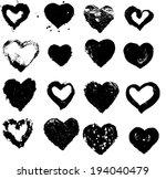 heart silhouette  illustration... | Shutterstock . vector #194040479
