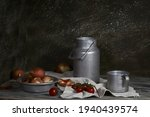 still life in a rustic style  a ...