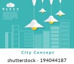 city concept. vector design   Shutterstock .eps vector #194044187