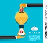 money concept design and...   Shutterstock .eps vector #194044217