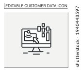 collect data online line icon.... | Shutterstock .eps vector #1940443597