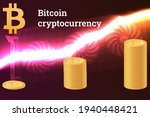 bitcoin cryptocurrency with...   Shutterstock .eps vector #1940448421