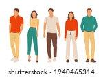 set of young men and women ... | Shutterstock .eps vector #1940465314