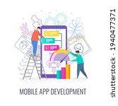 mobile app development concept. ...