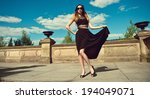 beautiful young woman in... | Shutterstock . vector #194049071