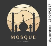 blue mosque palace logo icon...   Shutterstock .eps vector #1940492917
