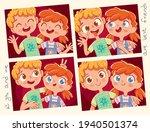 best friends. girl and boy... | Shutterstock .eps vector #1940501374