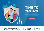 indian family vaccination... | Shutterstock .eps vector #1940504791