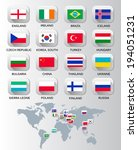 flags of different countries.... | Shutterstock .eps vector #194051231