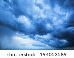 beautiful dark clouds before a... | Shutterstock . vector #194053589