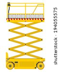 self propelled scissor lift... | Shutterstock .eps vector #194055575