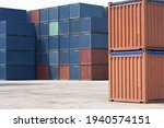 perspective view of stack of... | Shutterstock . vector #1940574151