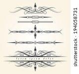 vintage design elements. eps8. | Shutterstock .eps vector #194058731