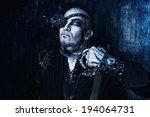portrait of a steampunk man... | Shutterstock . vector #194064731