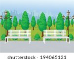 park view vector | Shutterstock .eps vector #194065121