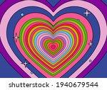 hypnotic heart shaped tunnel.... | Shutterstock .eps vector #1940679544