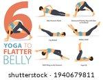 infographic 6 yoga poses for... | Shutterstock .eps vector #1940679811