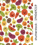 fun fruits and vegetables... | Shutterstock .eps vector #194069219
