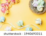 Easter Basket Bunny. Colourful...