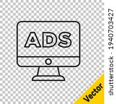 black line advertising icon... | Shutterstock .eps vector #1940703427