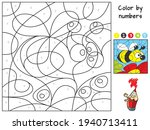 Flying Bee. Coloring Book....