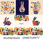 floral spring colourful trendy... | Shutterstock .eps vector #1940714977