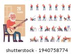 old man  elderly person set ... | Shutterstock .eps vector #1940758774