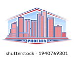 Vector Illustration Of Phoenix...