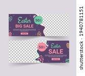 easter sale banner vector.... | Shutterstock .eps vector #1940781151