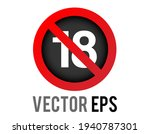 the isolated vector red circle... | Shutterstock .eps vector #1940787301