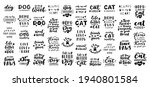 cat and dog phrase black and...   Shutterstock .eps vector #1940801584