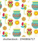 pohela boishakh kids seamless... | Shutterstock .eps vector #1940806717