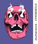 pop art style skull with...   Shutterstock .eps vector #1940808514