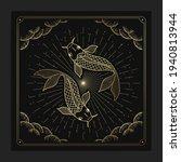 zodiac pisces horoscope  fish... | Shutterstock .eps vector #1940813944