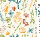 vector seamless pattern with... | Shutterstock .eps vector #194081657