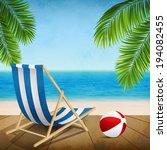 vector illustration of a summer ... | Shutterstock .eps vector #194082455
