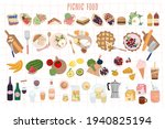 set of summer picnic food ... | Shutterstock .eps vector #1940825194
