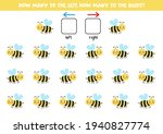 left or right with cute bee.... | Shutterstock .eps vector #1940827774