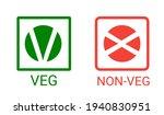 veg  non veg   vegetarian and... | Shutterstock .eps vector #1940830951