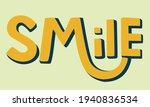 the word smile volumetric...   Shutterstock .eps vector #1940836534