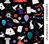 magic show seamless pattern.... | Shutterstock .eps vector #1940848441