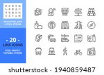 line icons about travel....   Shutterstock .eps vector #1940859487