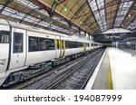on the platform   stock image....