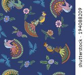 seamless pattern with... | Shutterstock .eps vector #194088209