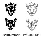 tiger flat icons set  vector... | Shutterstock .eps vector #1940888134