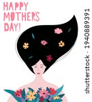 happy mother's day cute card ... | Shutterstock .eps vector #1940889391