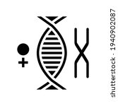 female chromosome genetic glyph ... | Shutterstock .eps vector #1940902087
