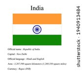 india national flag  country's... | Shutterstock .eps vector #1940913484