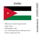 jordan national flag  country's ... | Shutterstock .eps vector #1940913487