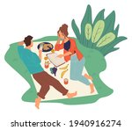 man and woman on weekends... | Shutterstock .eps vector #1940916274